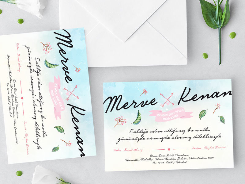 düğün davetiyeleri davetiye örnekleri SPRING WIND – Bahar Temalı Davetiye dugun davetiyeleri