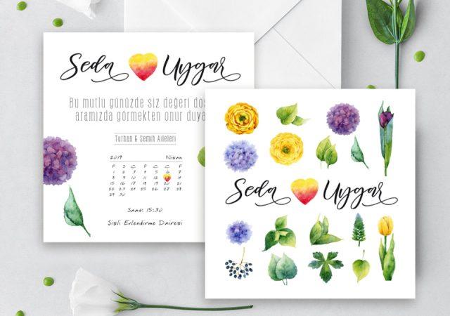 çiçekli davetiye çiçekli davetiye GARDEN – Çiçekli Fresh Davetiye cicekli davetiye 640x450
