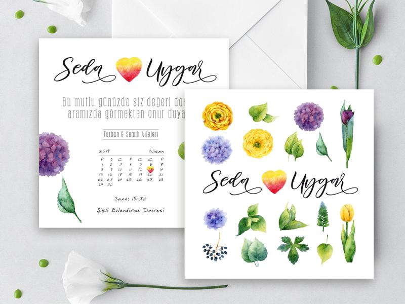 çiçekli davetiye çiçekli davetiye GARDEN – Çiçekli Fresh Davetiye cicekli davetiye