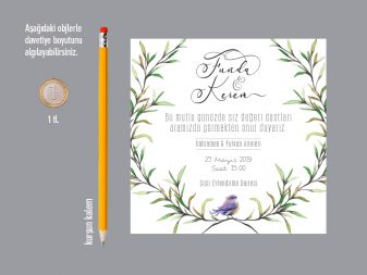 dal figürlü davetiye kare davetiye NATURA – Kare Davetiye dal figurlu davetiye 337x253