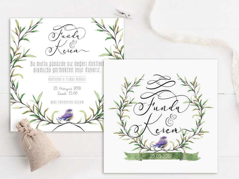 düğün davetiyeleri kare davetiye NATURA – Kare Davetiye dugun davetiyeleri