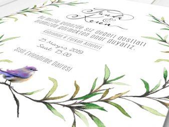 naturel davetiye kare davetiye NATURA – Kare Davetiye naturel davetiye 337x253